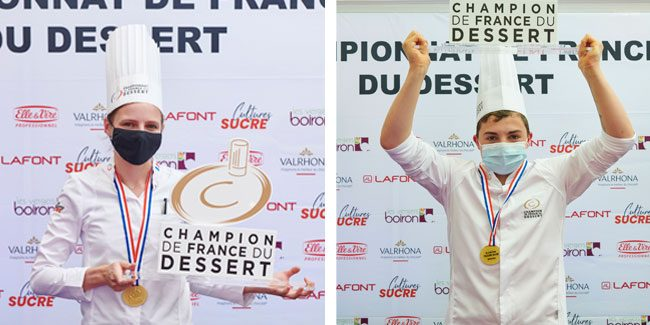 Morgane Raimbaud and Zachary Lebel shine at The Championnat de France du Dessert 2020