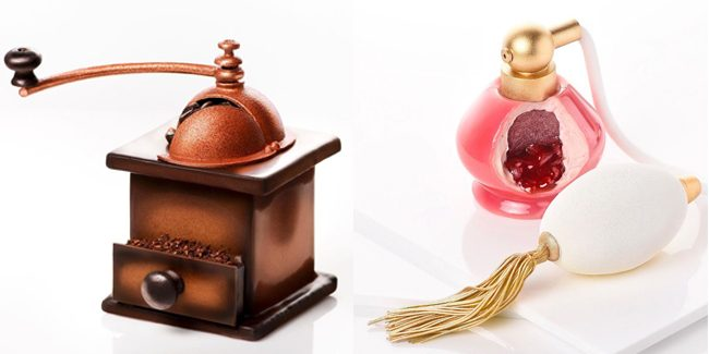 Coffee grinders, perfumes, radios and books in four artistic creations by Amaury Guichon