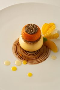 Platted dessert by Susan Notter