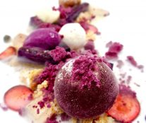 Platted dessert by Sean Considine