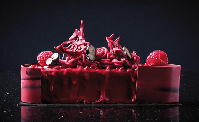 Pink panther plum cake by Carles Mampel