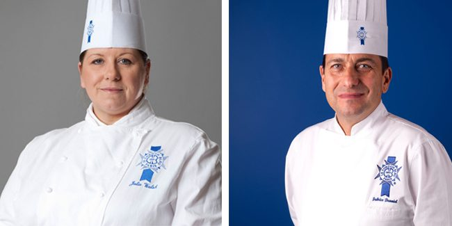 Le Cordon Bleu prepares an online demo with its teaching chefs Fabrice Danniel and Julie Walsh