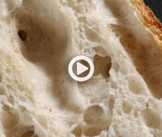 The highly hydrated ciabatta-like loaf. The True Bread Videos (3 of 6)
