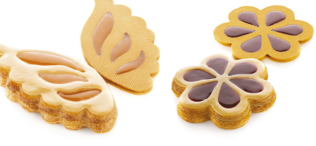 Innovative Silikomart molds for baked pastry with TPLUS +