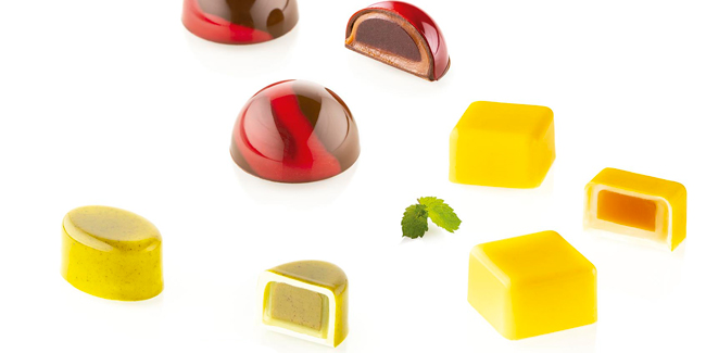 Chocado, the new line of chocolate molds from Silikomart Professional