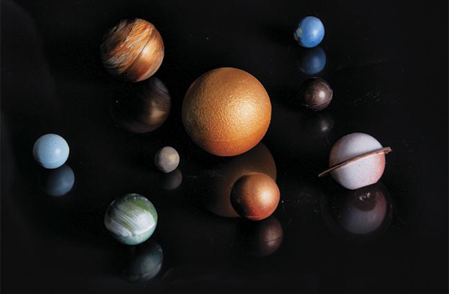 Jupiter inspired bonbons  by Bart de Gans and Maurits van der Vooren