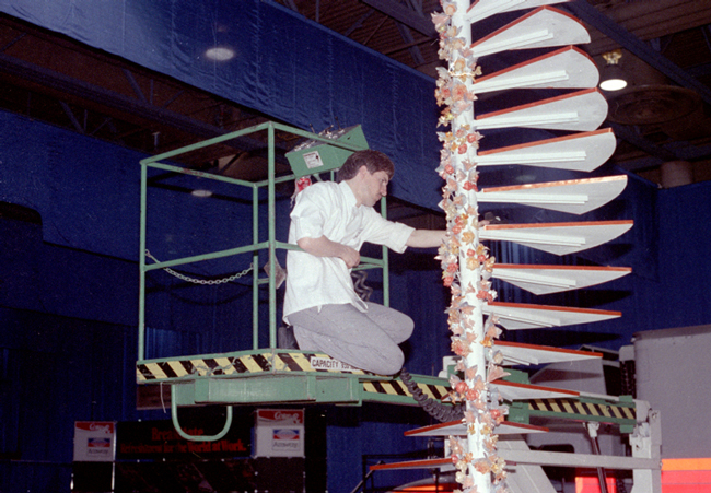 Gilles Renusson working on a sugar stair