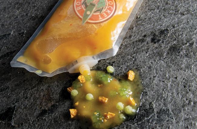 Space food dessert by Bart de Gans and Maurits van der Vooren