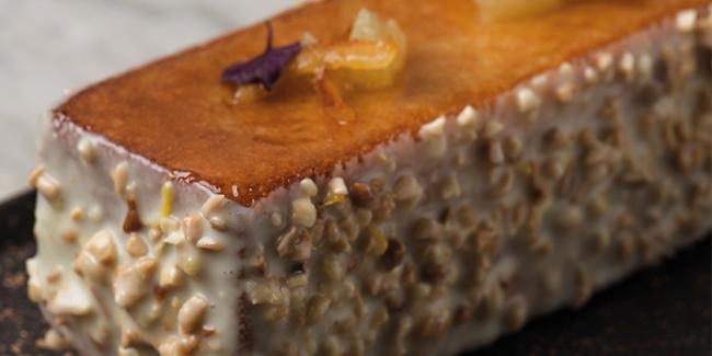 Lemon travel cake by Carles Codina, Four Seasons Madrid