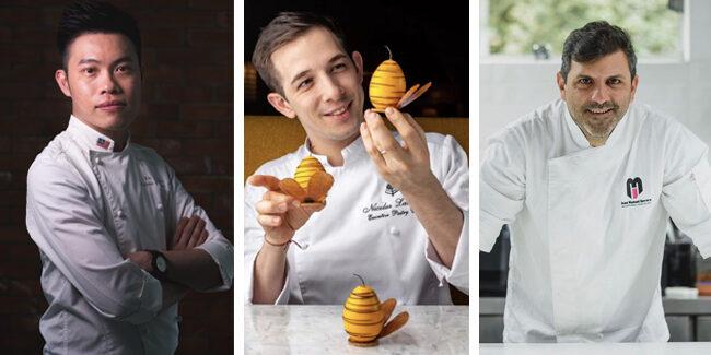 Wei Loon Tan, Nicolas Lambert, and Juan Manuel Herrera, in PastryBCN's online courses