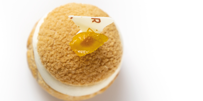 White chocolate and orange Choux Marion by Richard Hawke