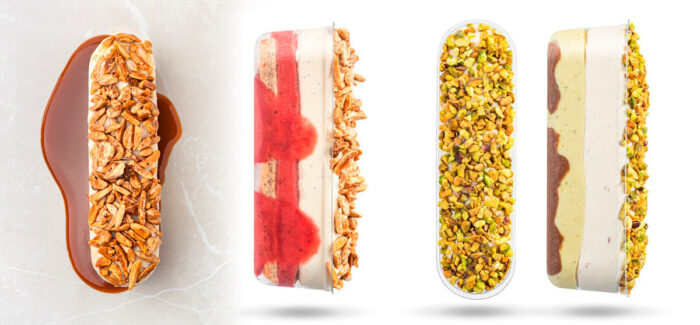 Jérémie Runel's bars grow with strawberry, pistachio, and salted caramel