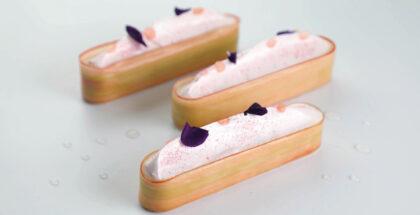 Rhubart and meringue tart by Laurent Bichon