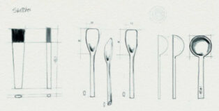 Pastry tools sketches by Cédric Grolet