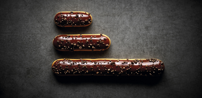 Mini, individual and XXL éclairs by Christophe Adam